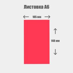 Дизайн с нуля. Листовка А6 105x148мм