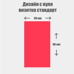 Дизайн с нуля. Стандартная визитка вертикальная 50×90мм
